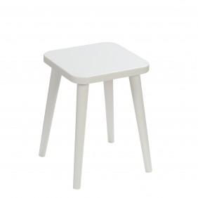 Szary taboret z kwadratowym siedziskiem 30x30 cm i wys. 41 cm Attina