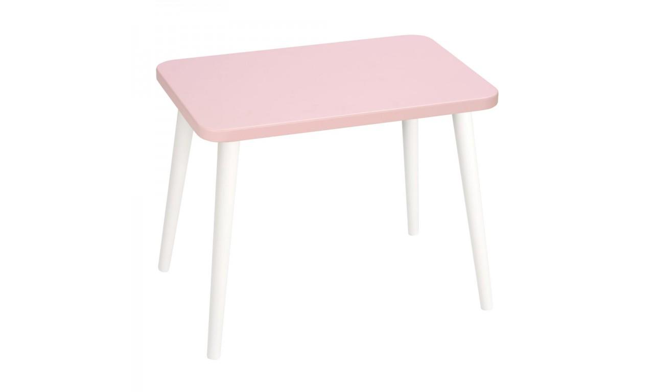 Różowy, prostokątny stolik (40x60 cm) wys. 54 cm Aurora