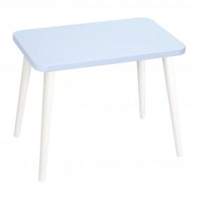 Błękitny, prostokątny stolik (40x60 cm) wys. 54 cm Flynn