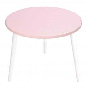 Różowy stolik ze sklejki, o średnicy 60 cm wys. 54 cm Aurora