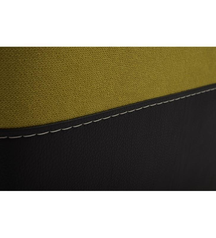 Żółty narożnik z pufą, funkcją spania i pojemnikiem na pościel Madagaskar (aston12+santiago96)