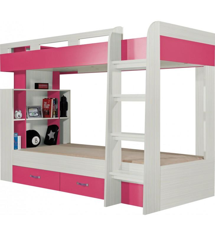 Łóżko piętrowe podwójne do pokoju dziecięcego KOMI 19