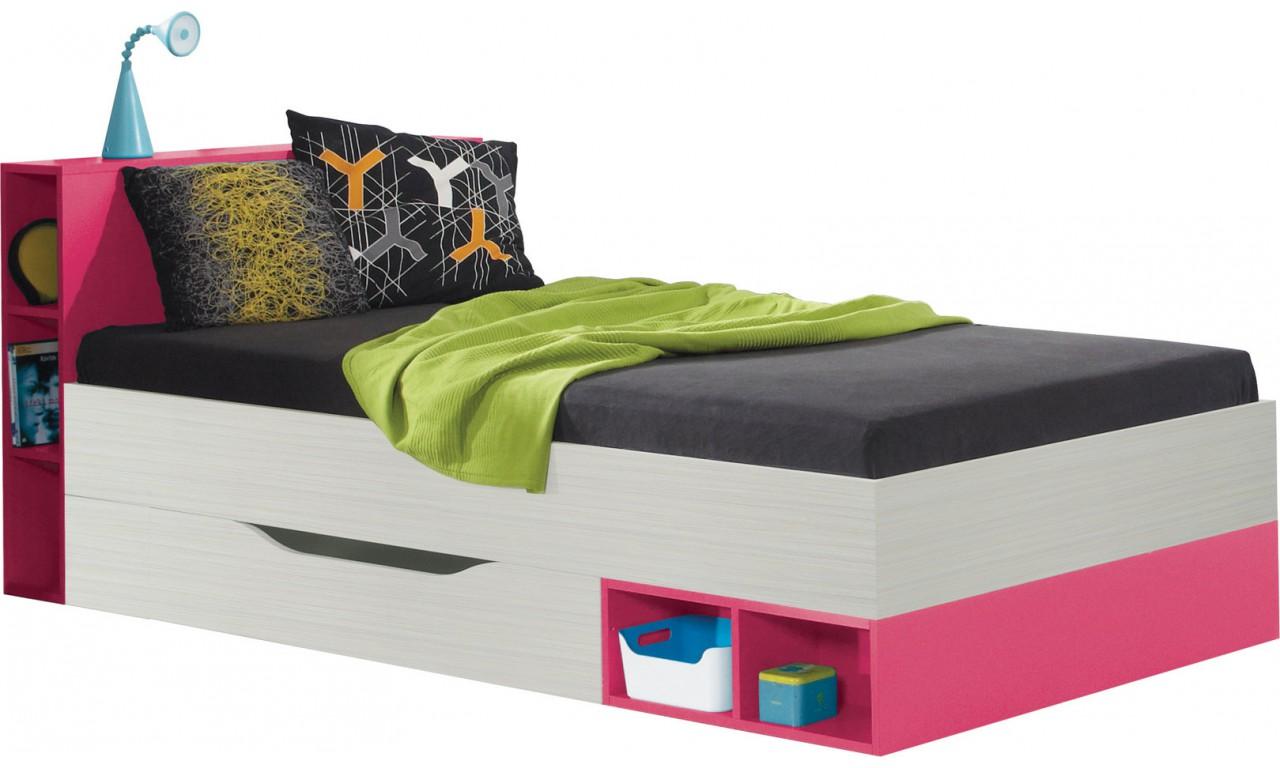 Łóżko (90x200 cm) w stylu nowoczesnym do pokoju dziecięcego KOMI 22