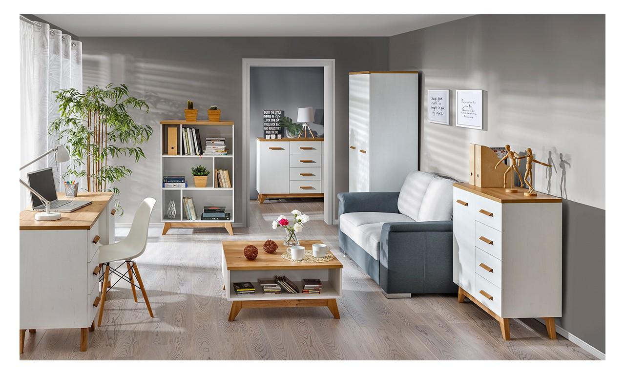 Łóżko w stylu skandynawskim Sven SV13