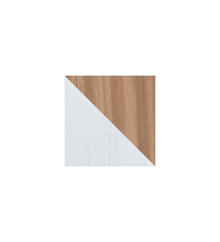 Zestaw białych mebli w stylu skandynawskim do sypialni Sven B