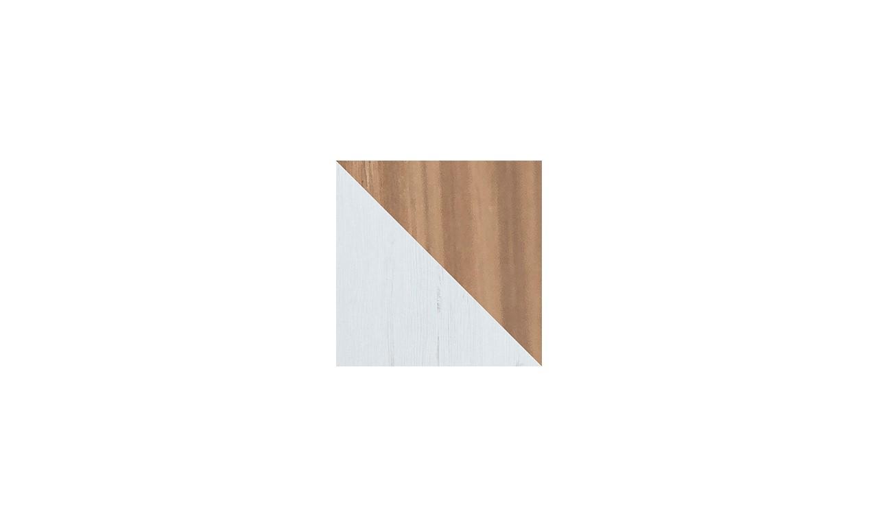 Zestaw białych mebli w stylu skandynawskim do salonu Sven C