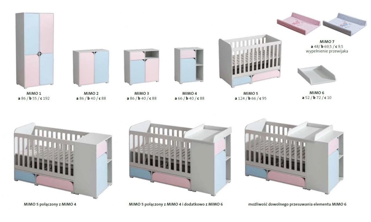 Łóżeczko do pokoju dziecięcego MIMO 5