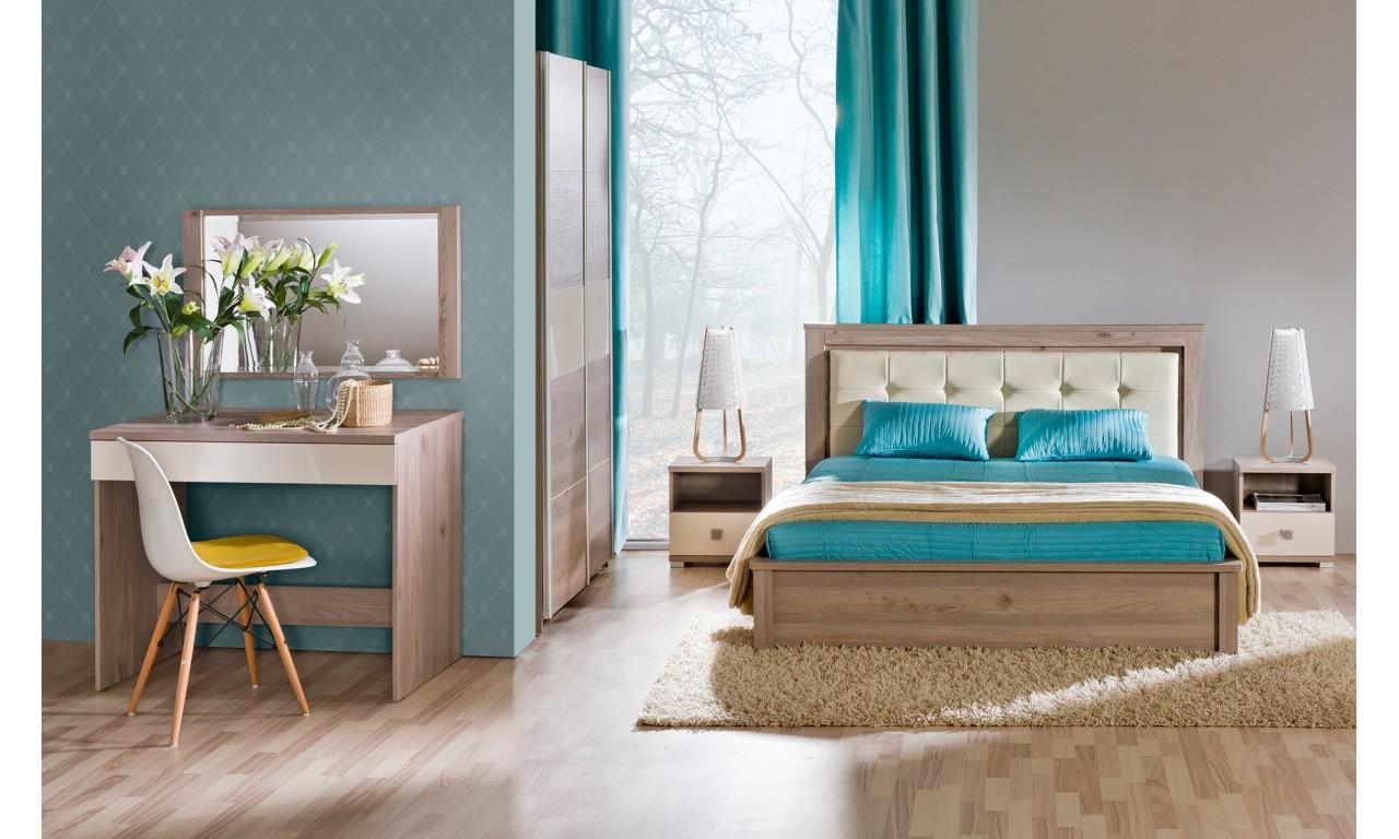 Łóżko (160x200) z pojemnikiem na pościel w stylu nowoczesnym VERTO V12