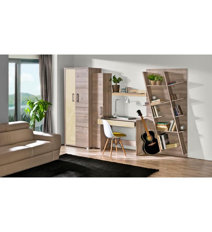 Łóżko (140x200) z pojemnikiem na pościel w stylu nowoczesnym VERTO V21