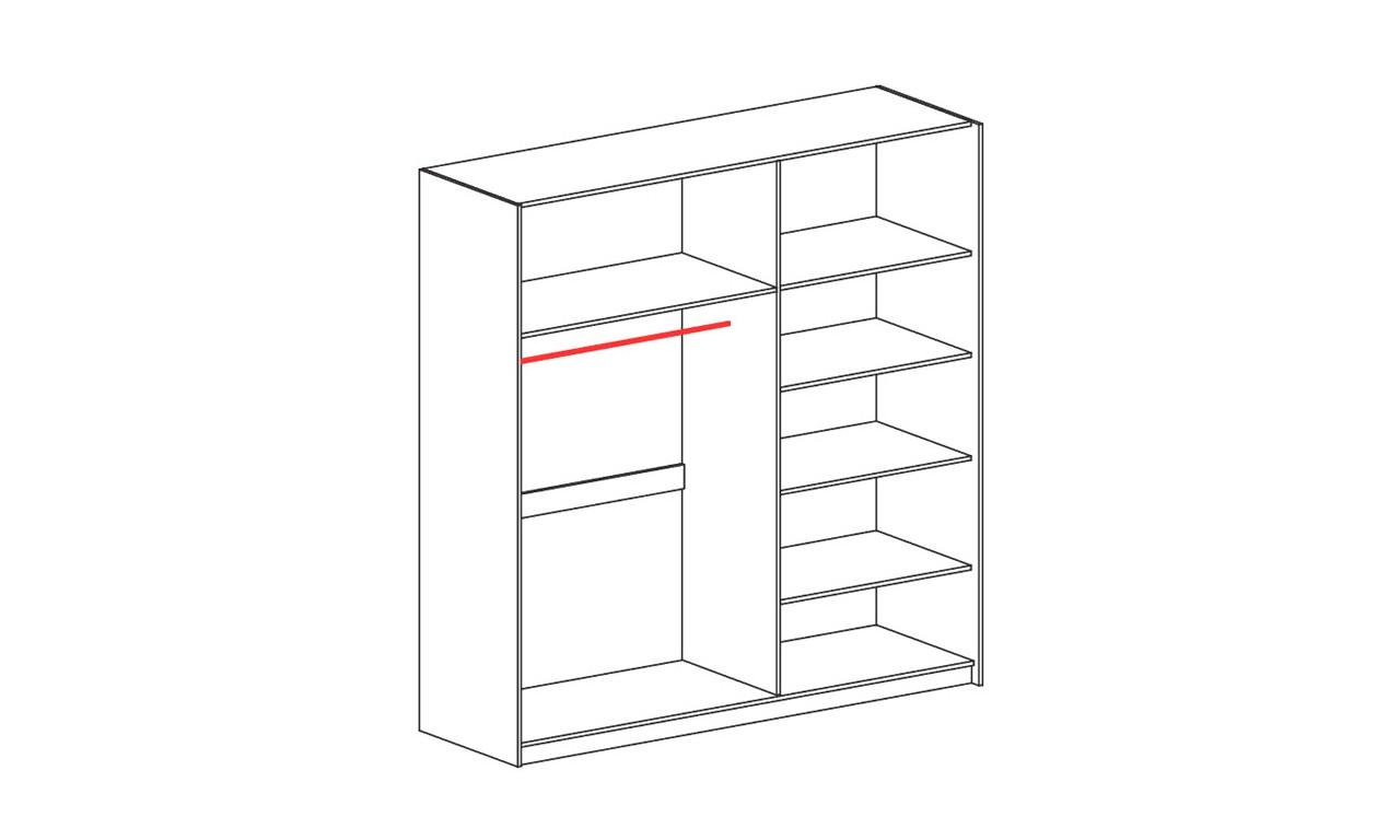 Szeroka szafa przesuwna (szerokość 203 cm) w stylu nowoczesnym VERTO V20