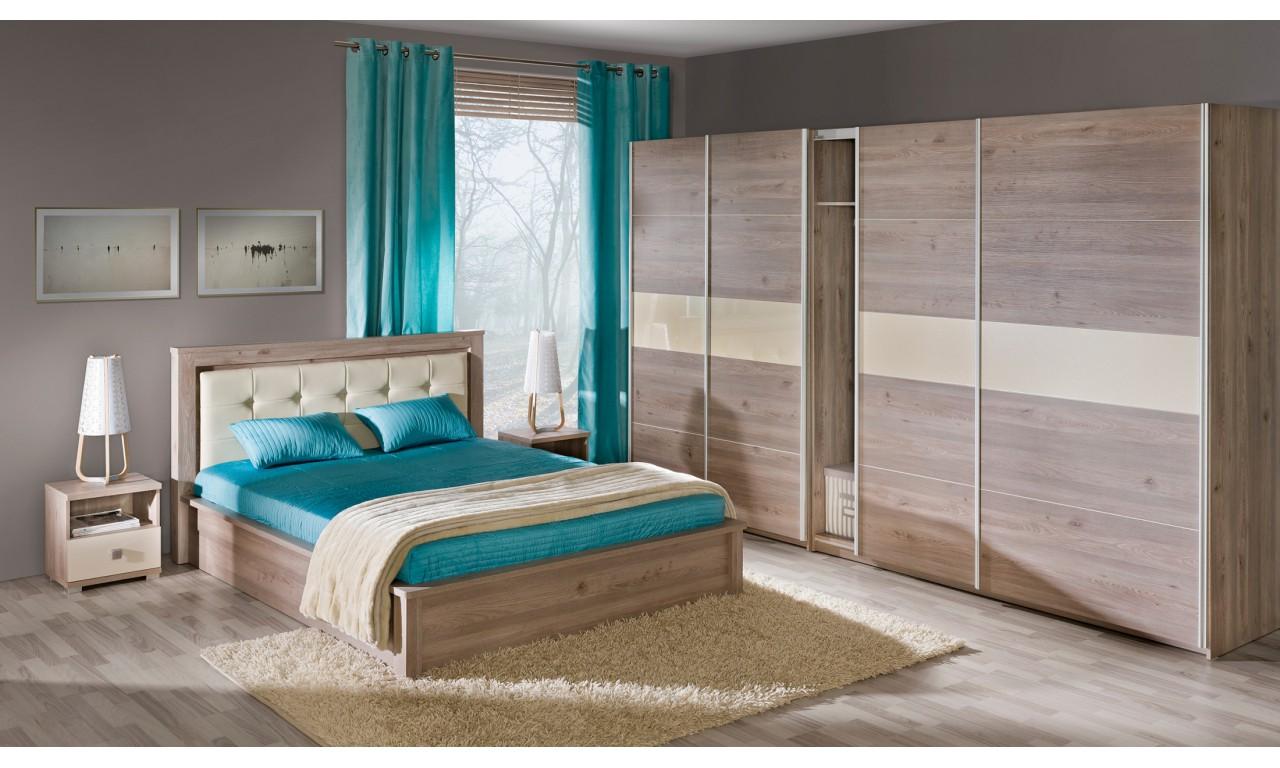 Zestaw mebli do sypialni w stylu nowoczesnym VERTO E