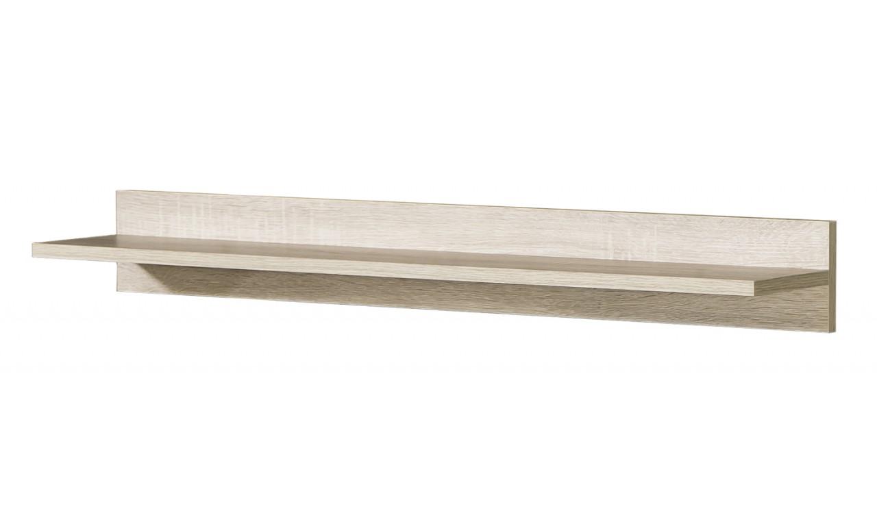 Szara lub jasnobrązowa półka wisząca do pokoju dziecięcego GUMI G5