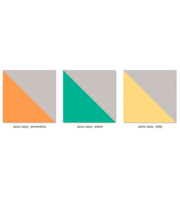 Regał półotwarty (prawy) w kilku propozycjach kolorystycznych YUKO Y12P