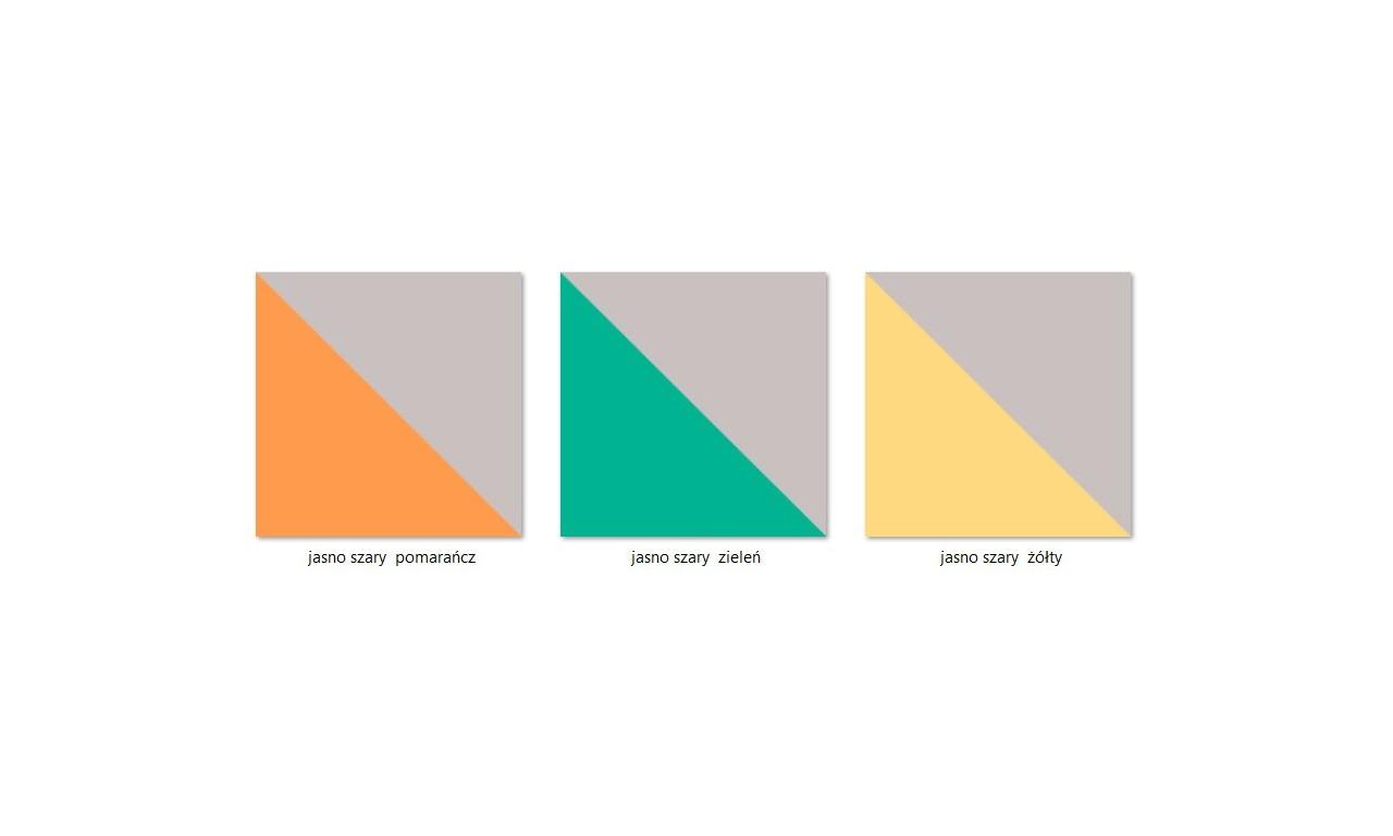Regał półotwarty (lewy) w kilku propozycjach kolorystycznych YUKO Y12L