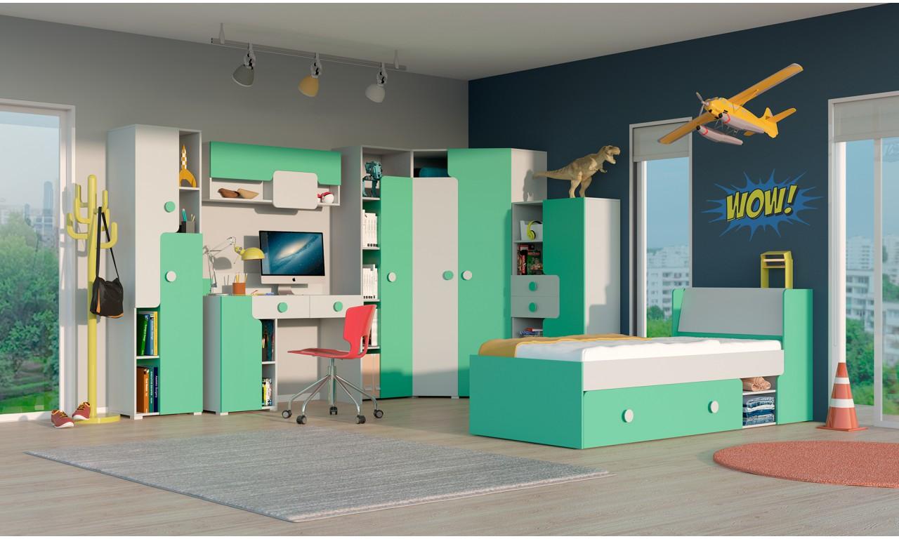 Łóżko do pokoju starszego dziecka w kilku propozycjach kolorystycznych YUKO Y13