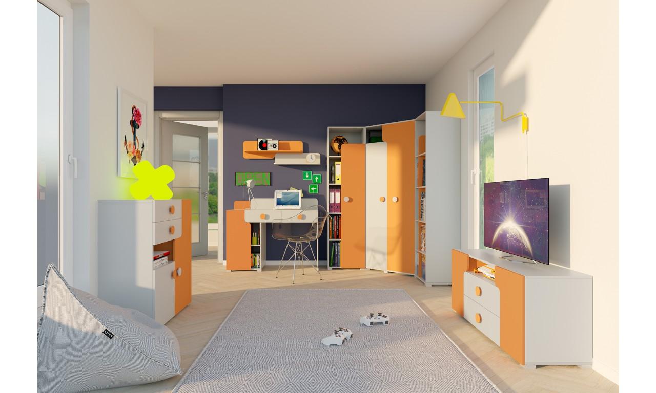 Zestaw mebli do pokoju starszego dziecka YUKO C
