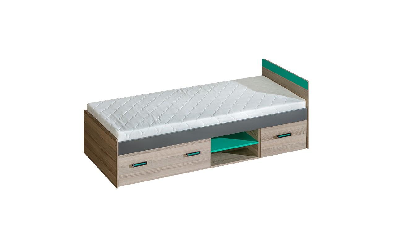 Łóżko z szufladami do pokoju młodzieżowego ULTIMO U7