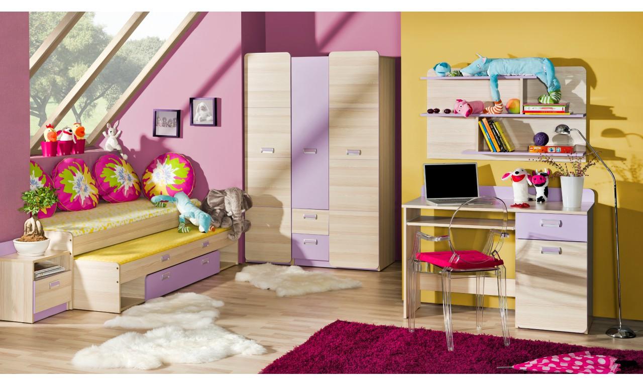 Regał półotwarty do pokoju starszego dziecka LORENTO L4