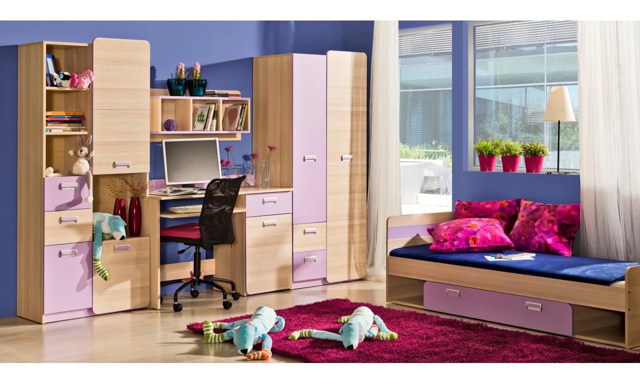 Półka wisząca do pokoju starszego dziecka LORENTO L8