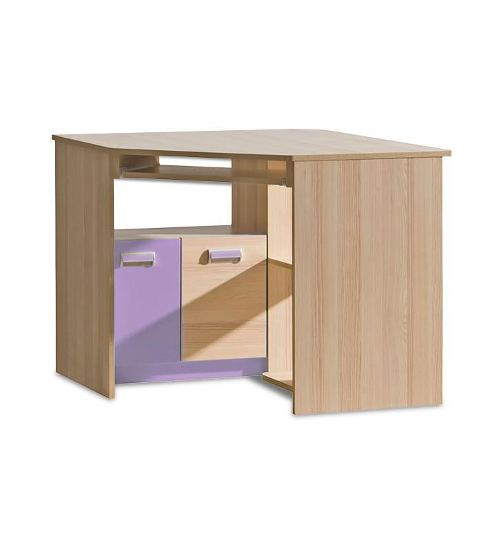 Biurko narożne do pokoju starszego dziecka LORENTO L11