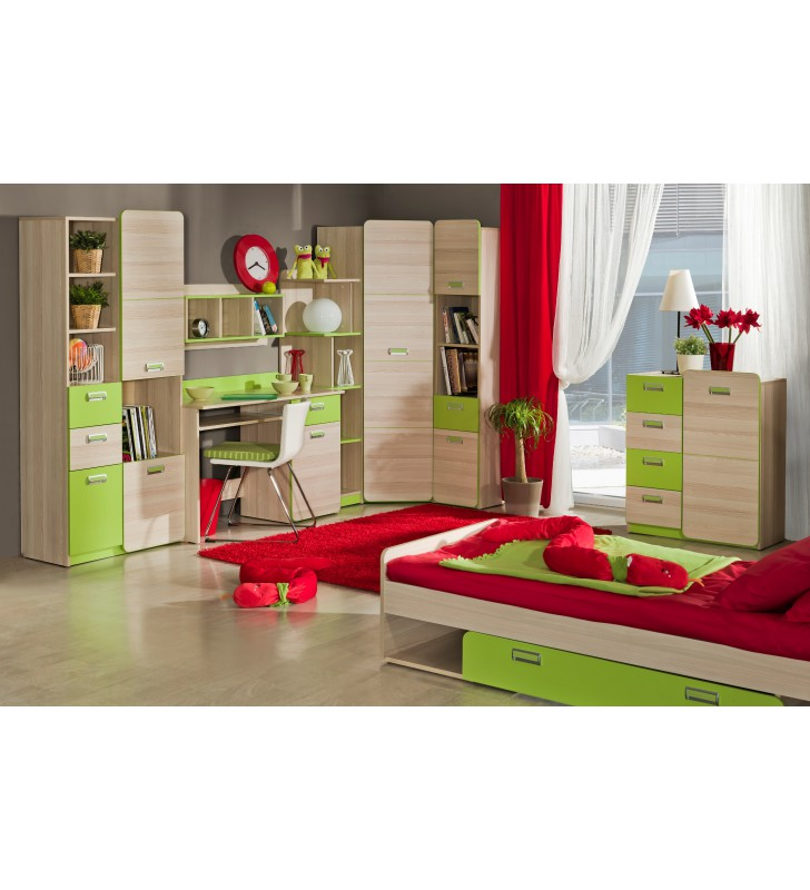 Łóżko dwuosobowe do pokoju starszego dziecka LORENTO L16