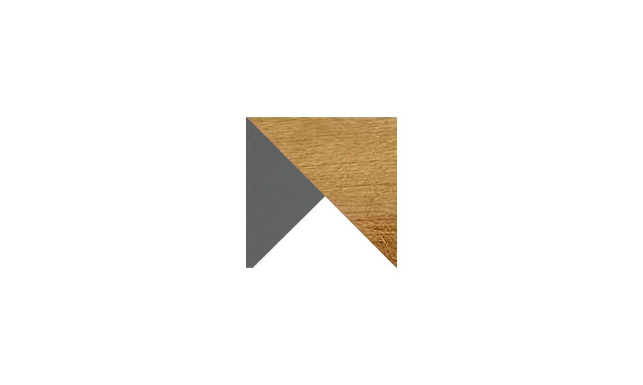 Wąska szafa w stylu retro i odważnej kolorystyce WERSO W2