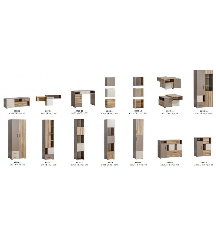 Półka wisząca w stylu nowoczesnym KREO 12