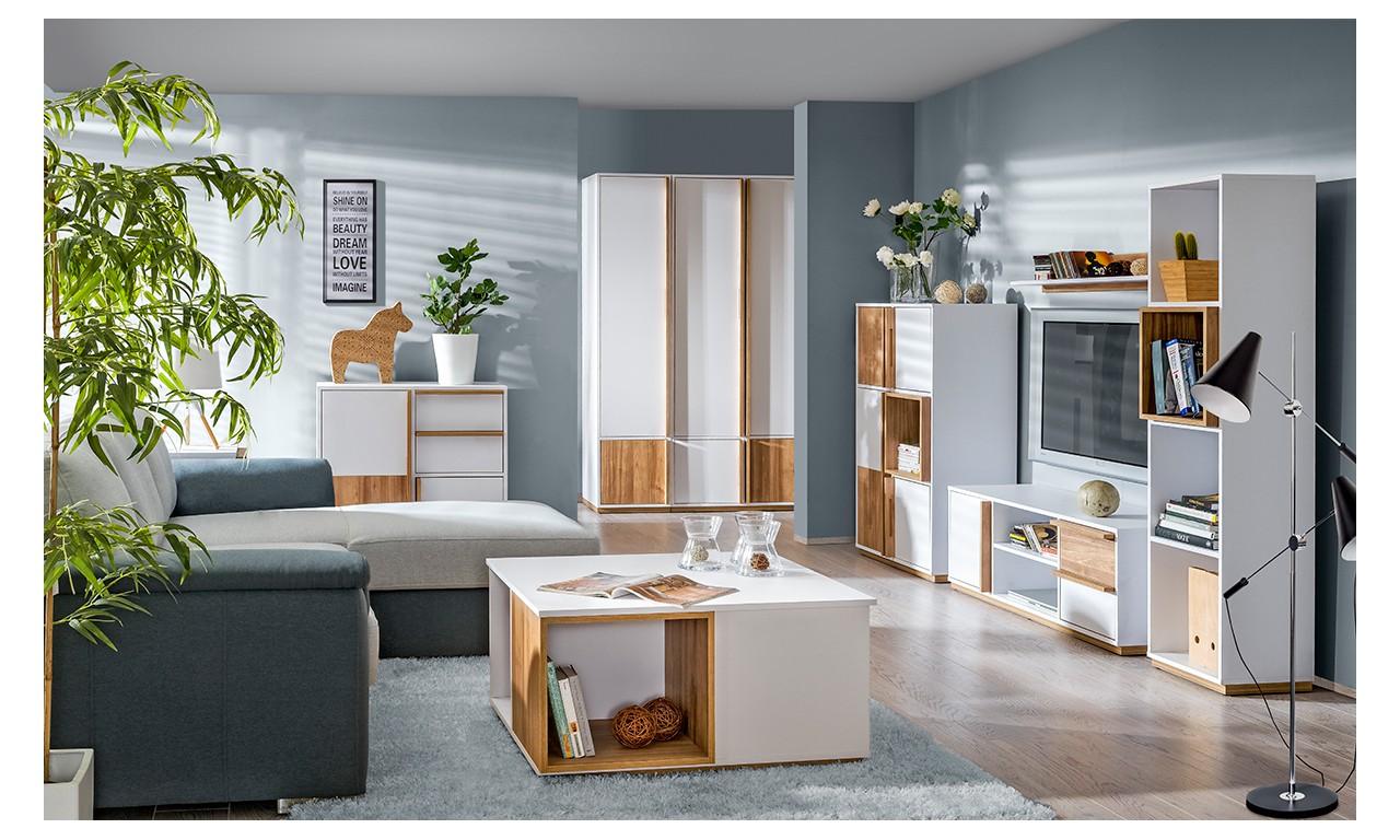 Zestaw mebli w stylu nowoczesnym do salonu EVADO A