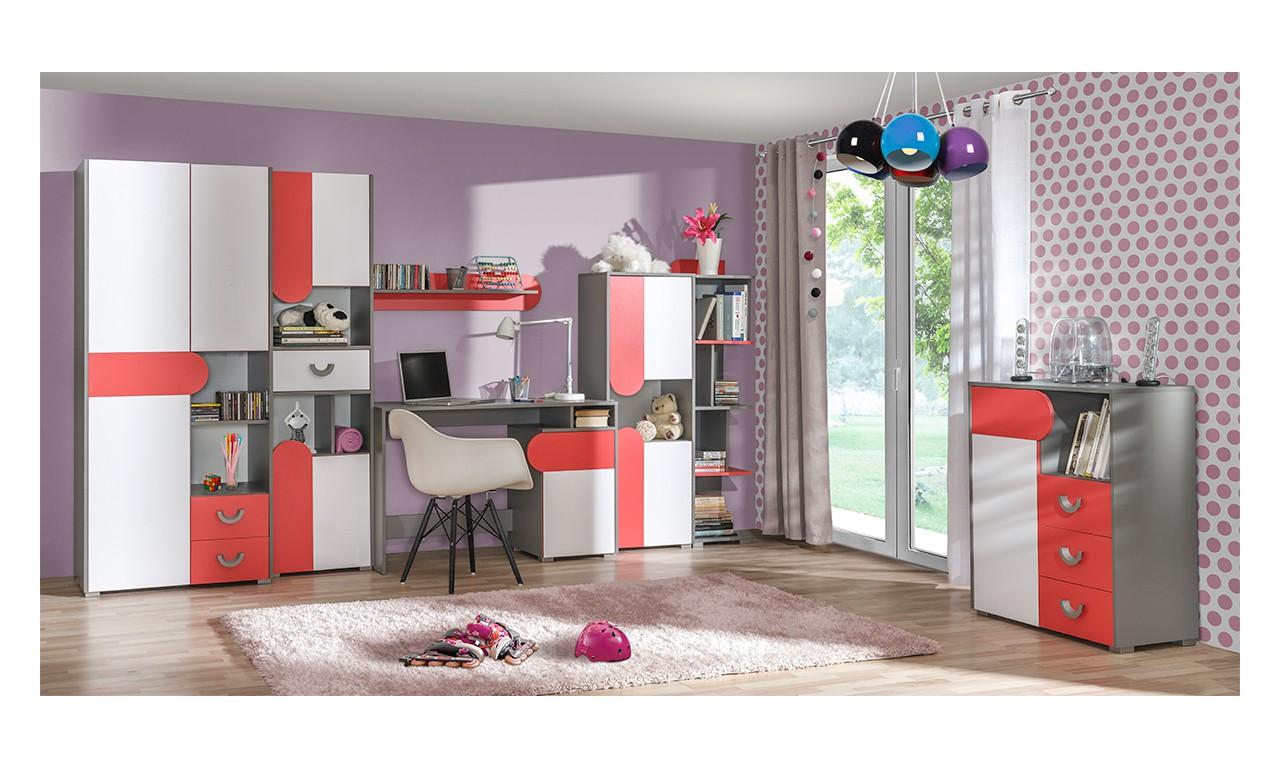 Zestaw w różnych kombinacjach kolorystycznych do pokoju starszego dziecka FUTURO A
