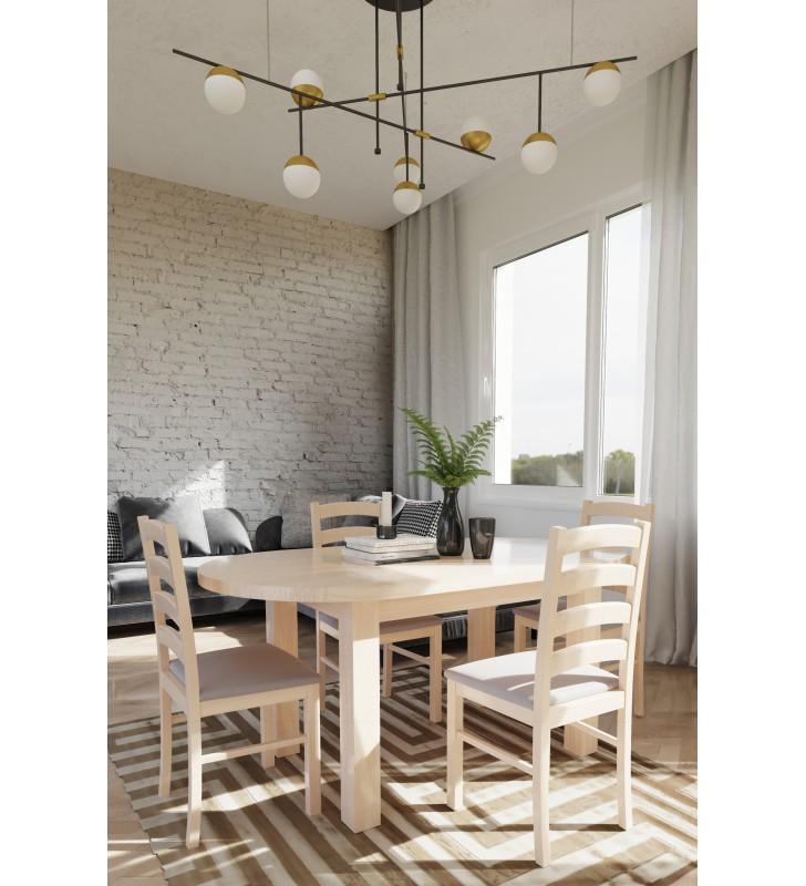 Krzesło bukowe, tapicerowane lub twarde, KT01