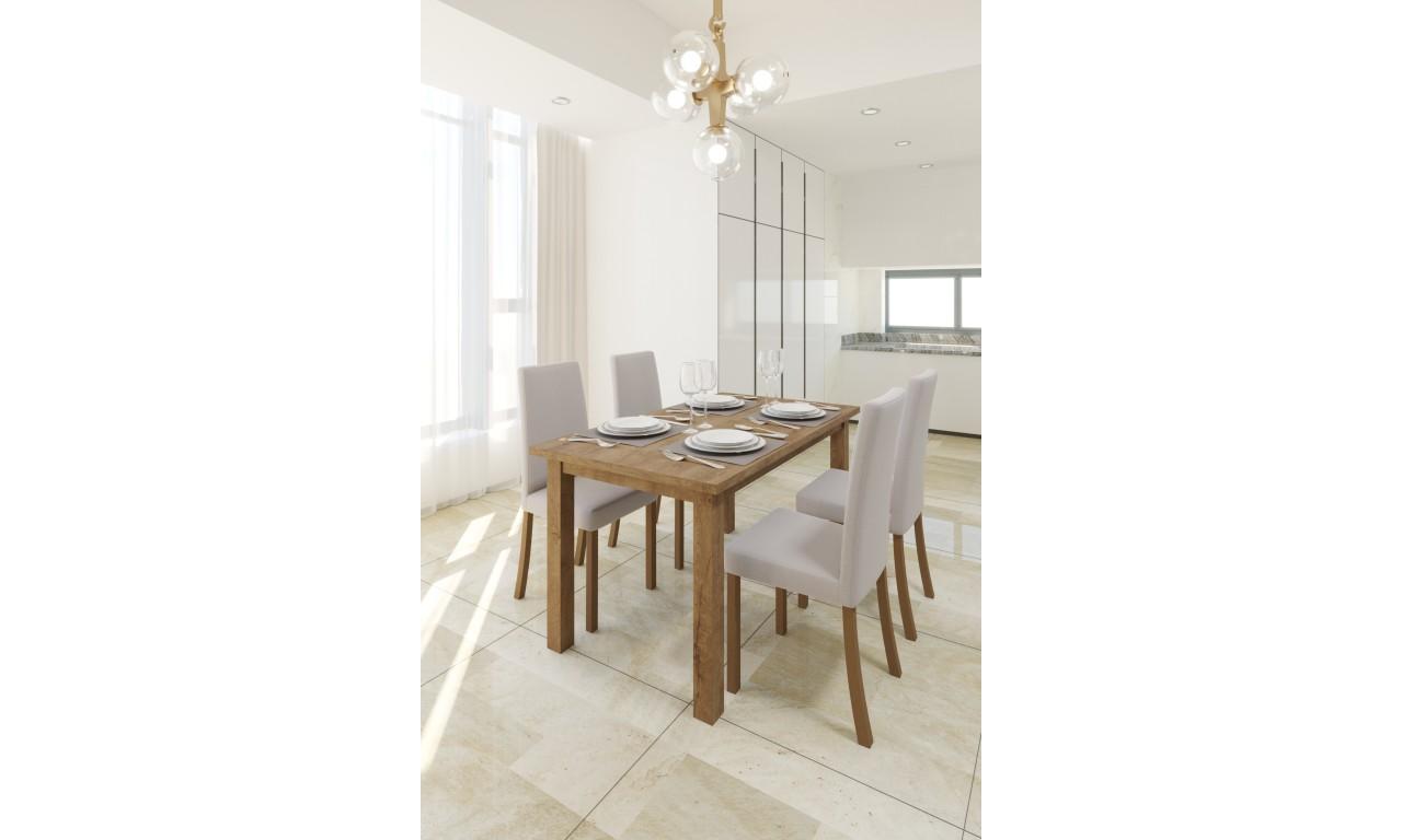 Krzesło bukowe, tapicerowane, KT20