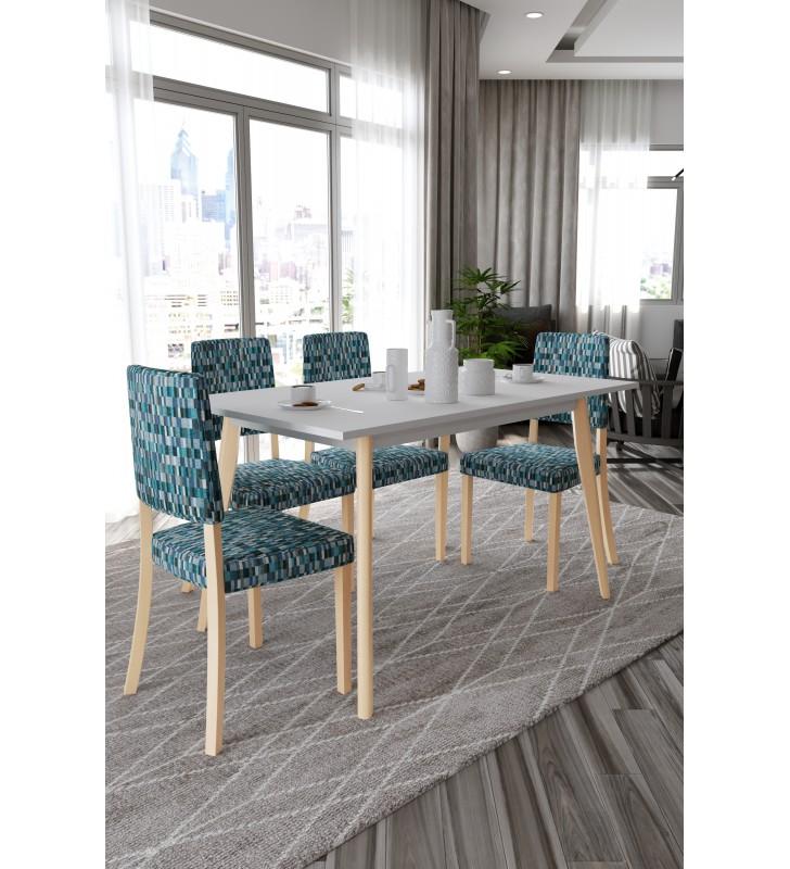 Krzesło bukowe, tapicerowane, KT48