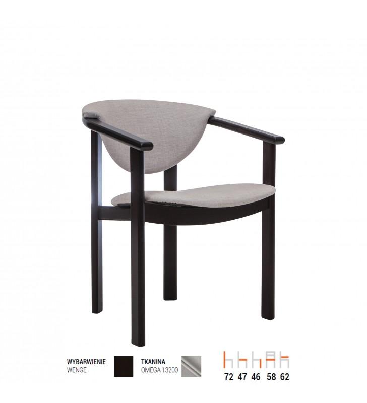 Krzesło bukowe, tapicerowane, F01