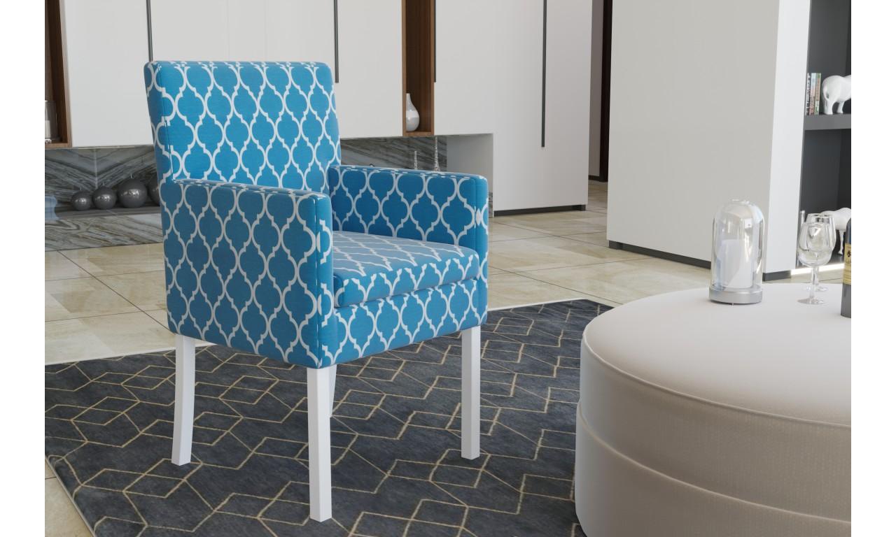 Krzesło bukowe, tapicerowane, F19