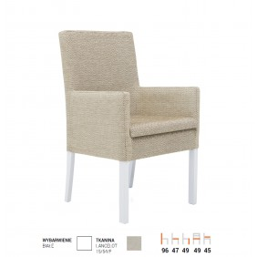 Krzesło bukowe, tapicerowane, F19/2