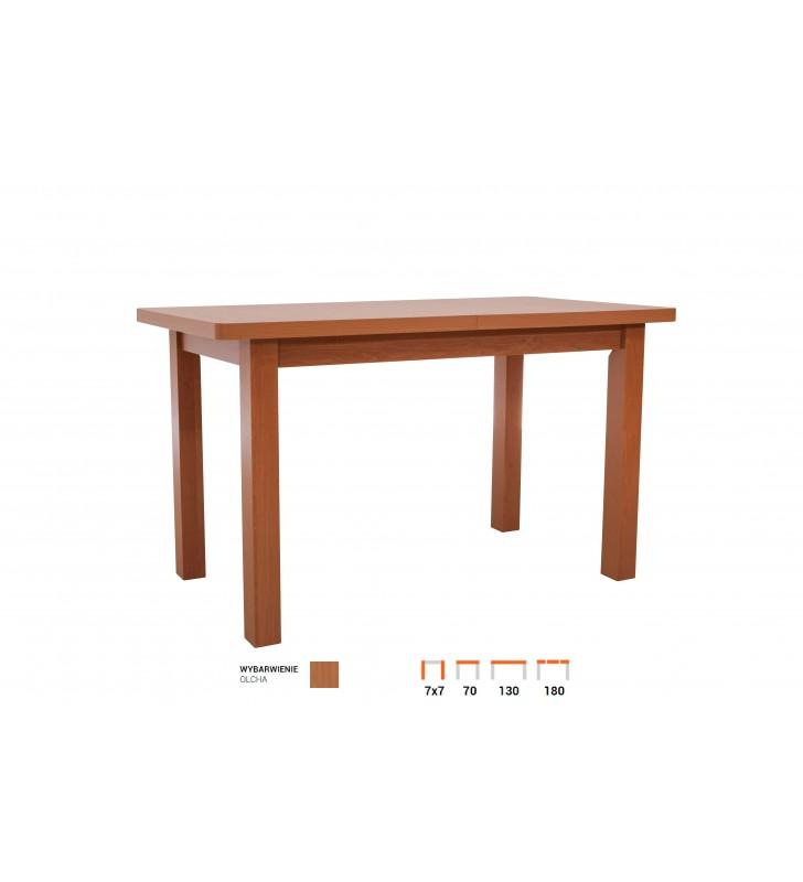 Stół bukowy (70x130), rozkładany, dowolna kolorystyka, ST22