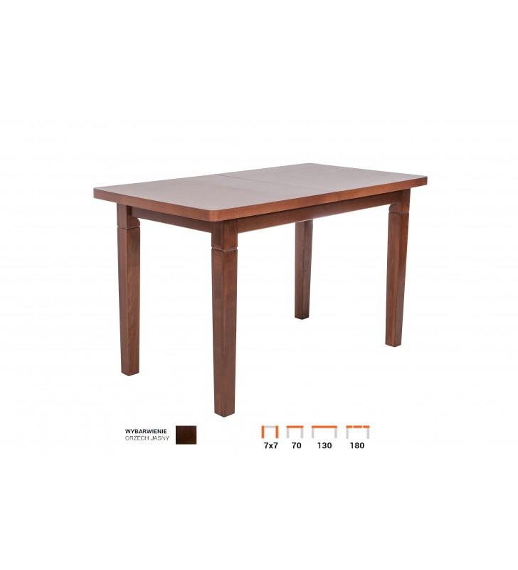 Stół bukowy (70x130), rozkładany, dowolna kolorystyka, ST28