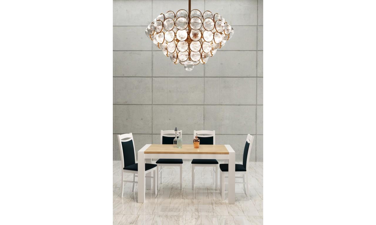 Stół bukowy (90x160), rozkładany, dowolna kolorystyka, ST40/2