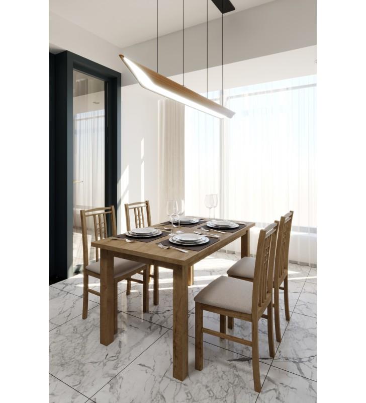 Stół bukowy (70x120), rozkładany, dowolna kolorystyka, ST62/0