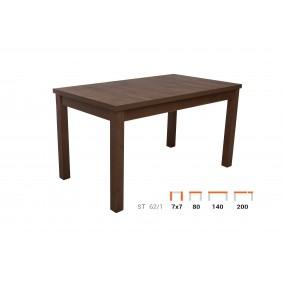 Stół bukowy (80x140), rozkładany, dowolna kolorystyka, ST62/1