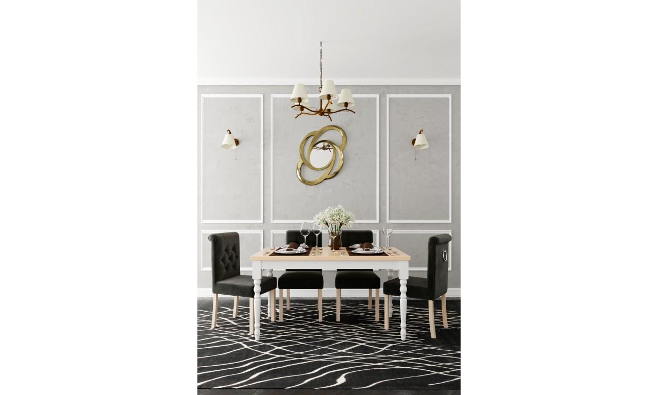 Stół bukowy (100x200), rozkładany, dowolna kolorystyka, ST66/3