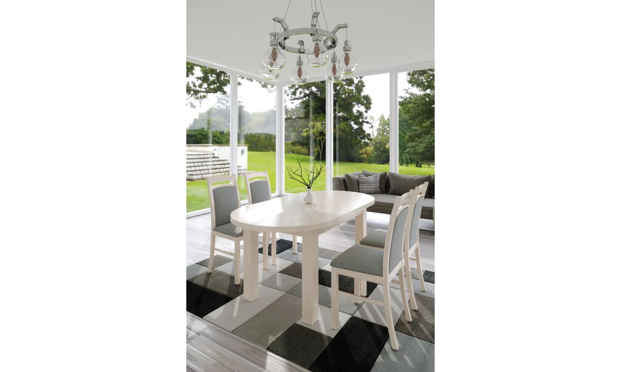 Stół bukowy (90x170), rozkładany, dowolna kolorystyka, ST5