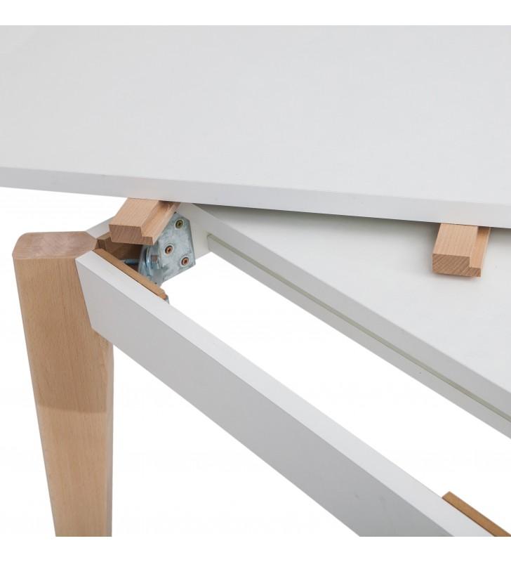 Stół bukowy (80x140), rozkładany, dowolna kolorystyka, ST82