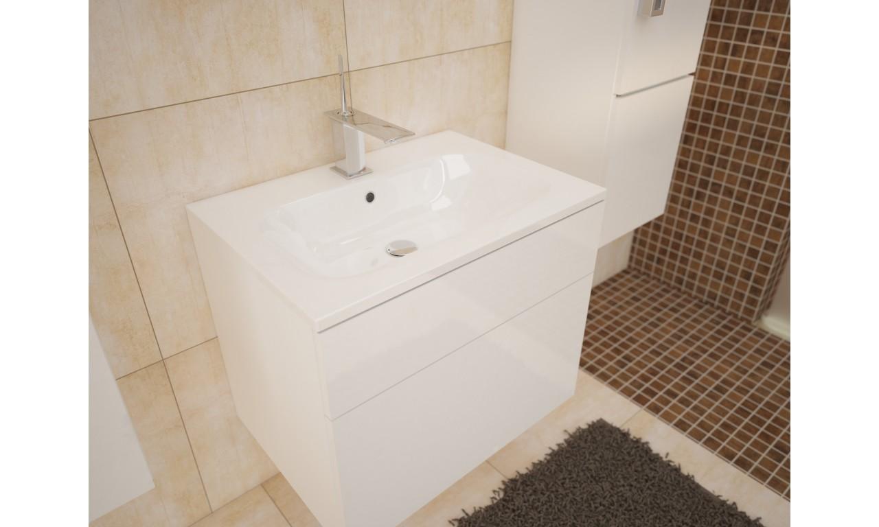 Zestaw mebli łazienkowych PORTO (biały połysk)