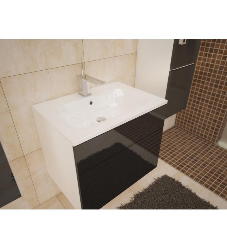Zestaw mebli łazienkowych PORTO (czarny połysk)