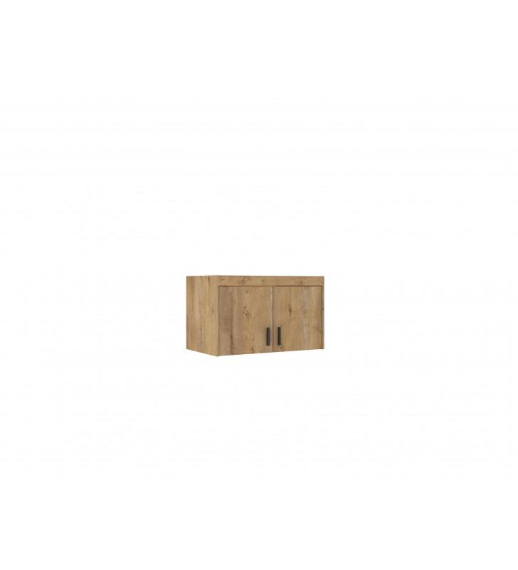 Brązowa szafa dwudrzwiowa ELENA 2D z dostępną nadstawką