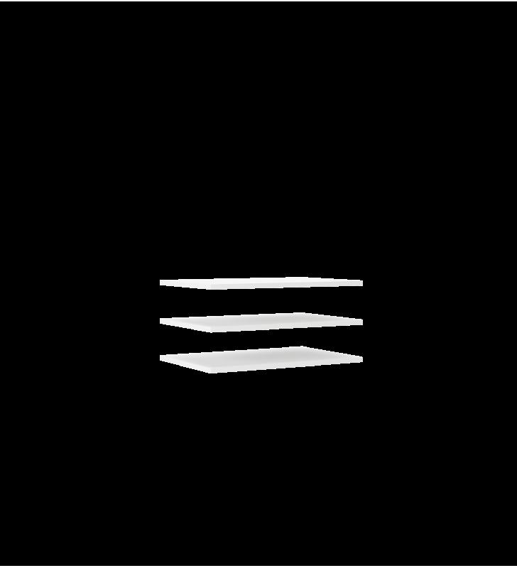 Szara szafa przesuwna z lustrem TREND 130