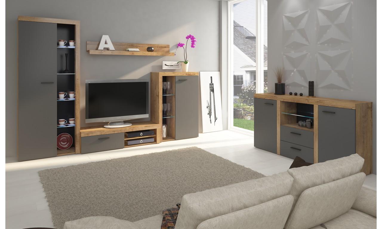 salon z sypialnią w jednym pokoju