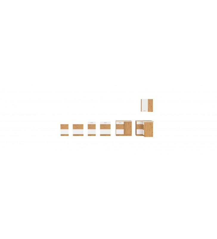 Szafka stojąca narożna ARTISAN biały połysk 89x89 DN 1F BB