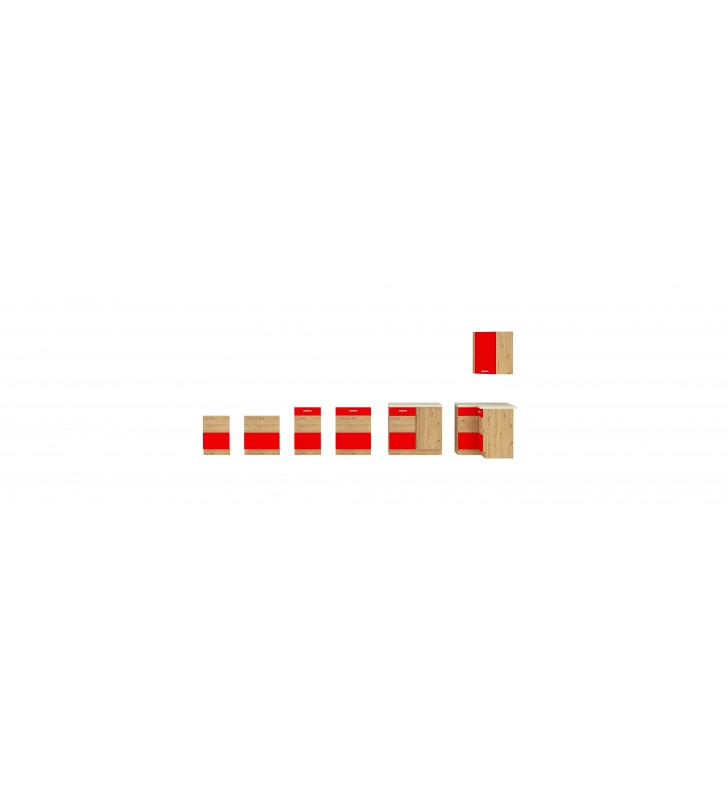 Szafka stojąca ARTISAN czerwony połysk 80 D 2F BB